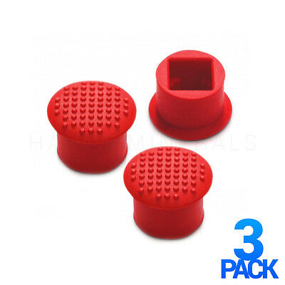 3x Red Lenovo Thinkpad TrackPoint Cap IBM Soft Dome T410 T420 T430 T510 T520
