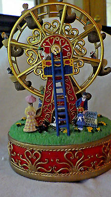 "Liberty Falls Movable ""ferris Wheel"" Music Box Christmas Western Snow Village"