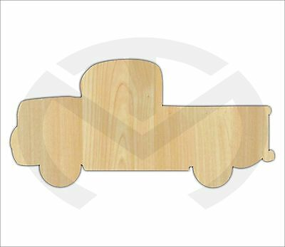 Unfinished Wood Vintage Truck with Hearts or Clover in back Laser Cutout