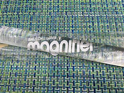 """Vintage Bausch & Lomb Clear Acrylic Magnifying 8"""" Ruler"""