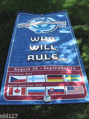 2004 World Cup of Hockey Tournament Authentic Banner Issued by the NHL