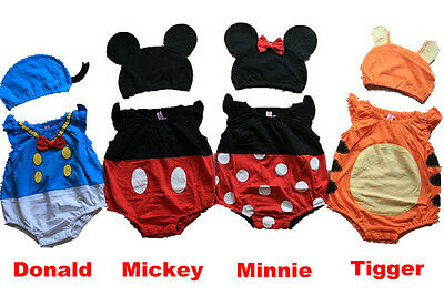 Cute Disney One piece Baby Romper for Boys & Girls - Mickey Minnie Tigger Donald
