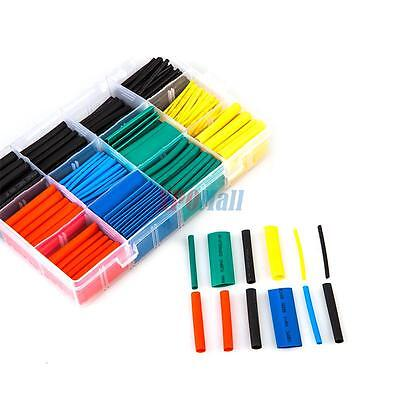 530 Pcs 2:1 Heat Shrink Tubing Tube Sleeving Wrap Cable Wire 5 Color 8 Size New