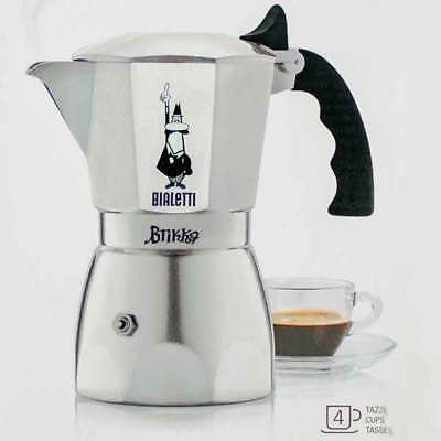 Bialetti Brikka 4 Cup Espresso Maker New Stovetop Coffee Brewer from Italy