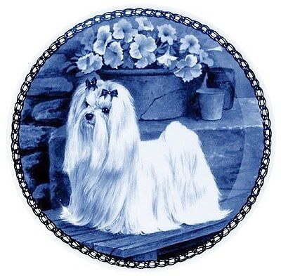 Maltese: Danish Blue Porcelain Plate #7306
