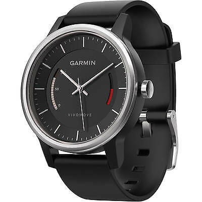 Orologio Watch Garmin Vivomove Sport Nero Black Analogico Fitness Tracker Band