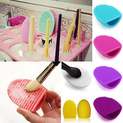 Makeup Brushes Scrubber Cleaning Finger Glove Silicone Cleaner Egg Washing Tool