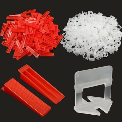 400 Tile Leveling System - 300 Clips With 100 Wedges Plastic Spacers Tiling Tool