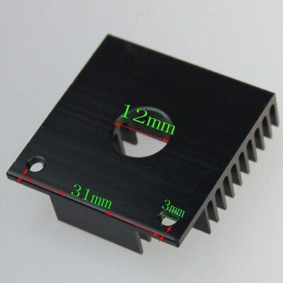 Aluminum Heatsink Metal For 3D Printer 40x40x11mm 40mm x 11mm MK7 MK8 Extruder