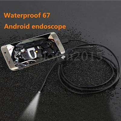 1/1.5/2/3.5M 6 LED 5.5mm Android Waterproof Inspection Mini USB Endoscope Camera
