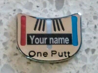 anneys * your OWN PERSONALISED GOLF BALL MARKER - one putt - 25*20mm*