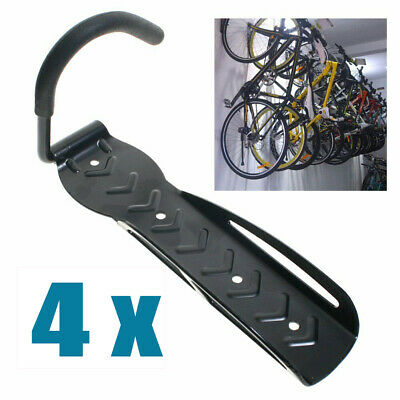 2X Steel Bike& Bicycle Storage Wall Mounted Mount Hook &rack Holder Hanger Stand
