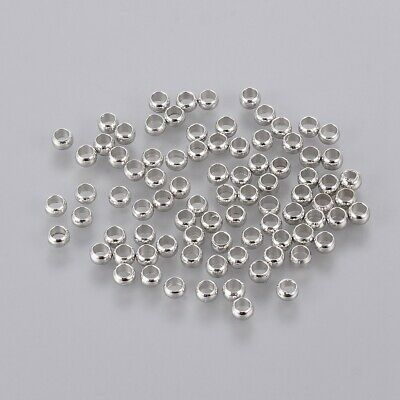 10g Brass Crimp Beads Platinum 3mm hole 2mm fit DIY Jewelry Crafting Finding