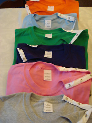 Orthopedic rotator cuff/shoulder surgery t-shirts w/easy snaps for rehab.