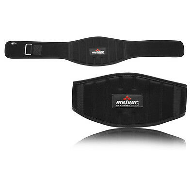 Met-X Fitness Gym Weigth Lifting Belts Back Support Heavy Duty Black Neoprene