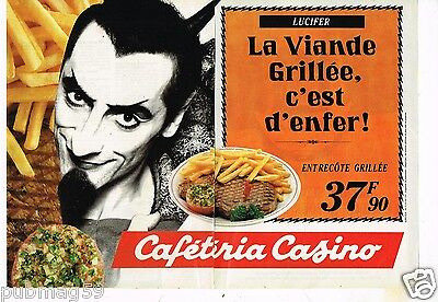 2 Pages Publicité Advertising 1991 Caféteria Casino