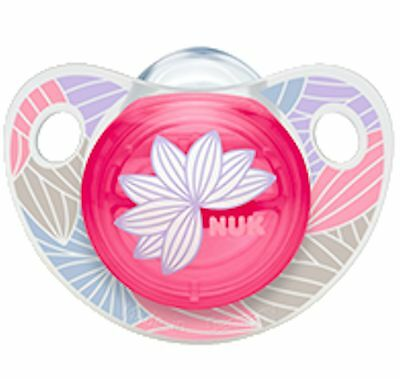 NUK Trendline Adore Pacifier Orthodontic 0-6 Months BPA Free Silicone (8646-1)