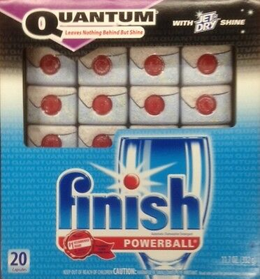 Finish Quantum Dishwasher Detergent, POWERBALL,120-Count