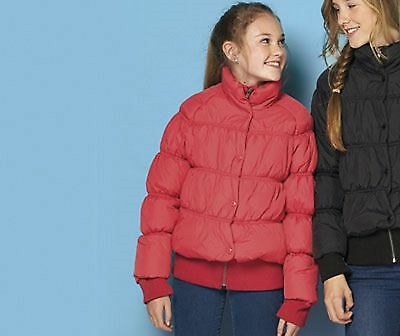 FCUK French Connection Girls Winter Bubble Coat Fuchsia Pink 10/11 Years