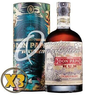 3 DON PAPA RUM AGED IN OAK PHILIPPINES rhum in de leeftijd 7 jaar 70CL