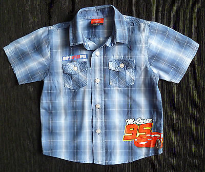 "Clothes baby kids BOY 2-3 years George short sleeve blue ""Grand Prix"" shirt NEW!"
