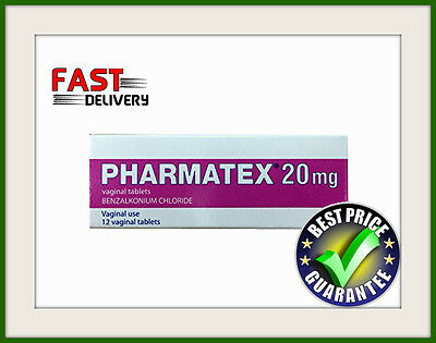 Pharmatex 20mg 12 Vaginal Tablets Local contraception Reduces Pregnancy Risk
