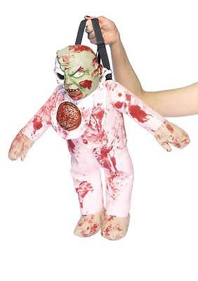 Zombie Baby Backpack, Leg Avenue, Halloween Bag, Horror Accessory, Fancy Dress