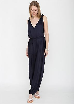 T-Back Romper Jumpsuit Navy