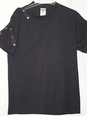Patient clothing Open heart OR abdominal surgery t-shirts with center snaps E-Z