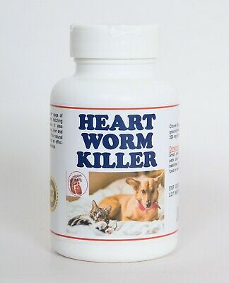 Worms  & Parasites Killer For Pets - 2 Months Supply -  Gusano Del Corazon