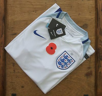 Brand New Genuine Nike England 2016/17 Home POPPY Shirt - Adults Small Large XL