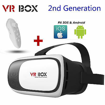 3D Glasses 2nd Gen Goggle VR-BOX Headset Cardboard Virtual Reality Fo Smartphone