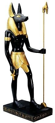 "Ancient Egyptian Decor Dark Lord God Anubis Mummification Large Figurine 16""H"