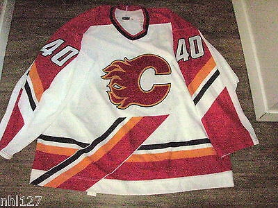 Daniel Tkachuk 1998-99 Calgary Flames Game Worn Used NHL Hockey White Jersey