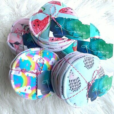 6 Sets -Reusable Breast Pads- Machine Washable For Nursing Mothers
