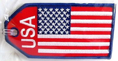 13056 Usa American Flag Airlines Airways Aviation Travel Fabric Luggage Bag Tag