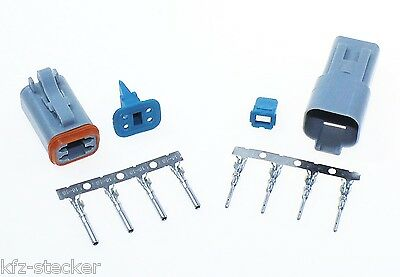 AMPHENOL AT Serie Deutsch Stecker Set Kit 4-polig Steckverbinder Wasserdicht
