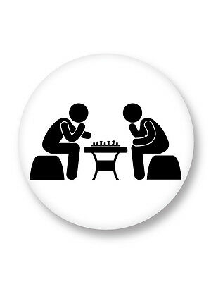 """Pin Button Badge Ø25mm 1"""" Picto Pictogramme Signe Symbole Echec Laws of Chess"""