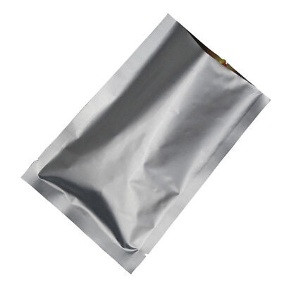 100Pcs Heat Seal Pure Aluminum Foil Mylar Bags Vacuum Food Storage Package Pouch