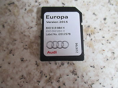 Audi Sat Nav Navigation Sd Card 2015 Navigation A1 A3 Europe Rmc 8X0 919 884 H