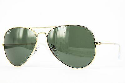 Ray Ban Sonnenbrille/Sunglasses AVIATOR LARGE METAL RB3025 001 62 + Etui # J2