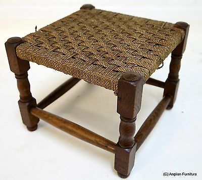 Oak and Seagrass Foot Stool FREE Nationwide Delivery