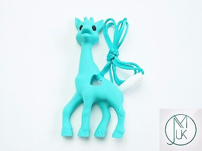 Silicone Baby Teething Necklace Pendant Giraffe Mum & Baby Jewellery 15 Colors