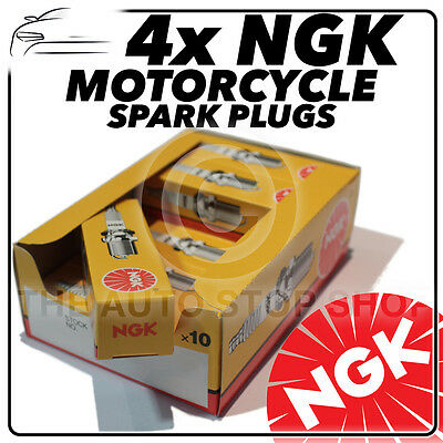 4x NGK Spark Plugs for HONDA 1100cc GL1100B (Gold Wing) 80-  No.2923