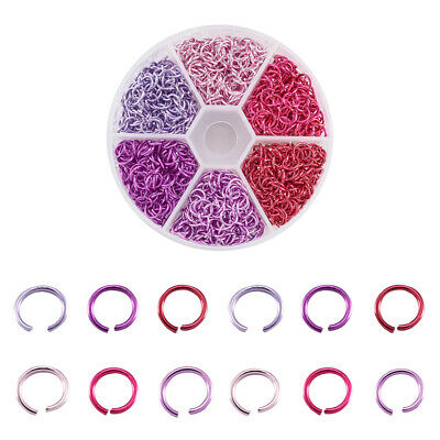 Electrophoresis Iron Jump Rings Mixed Color 6x0.7mm 1560pcs/box Jewelry Making