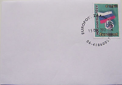 Stadspost Europost 2013 - FDC WK 2014 Voetbal, Football, Rusland