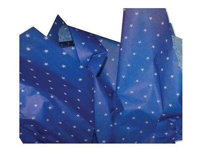 Blue Midnight Star Design Pattern ~ Acid Free Tissue Paper Sheets 50x75cm