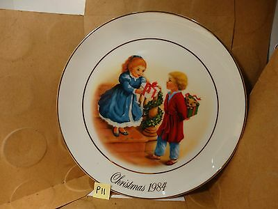 Avon Christmas Plate, 1984 Fourth Edition. (Used/EUC)