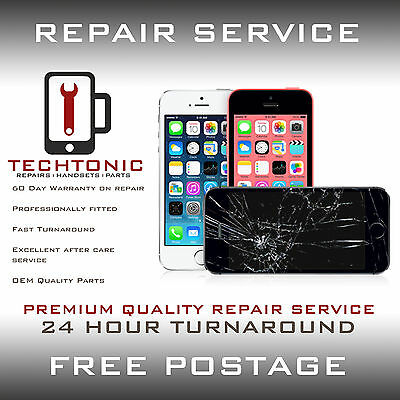 iPhone 5C Cracked Broken Screen Digitizer Touch LCD Repair Service Replacement