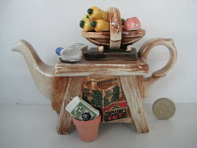 Cardew Novelty One Cup Teapot Gardeners Bench Allotment Garden Shed Interest Uk